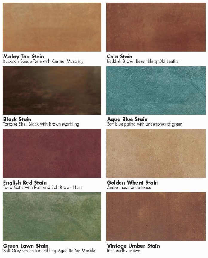 ACID STAIN COLORS (Interior U0026 Exterior) Part 51